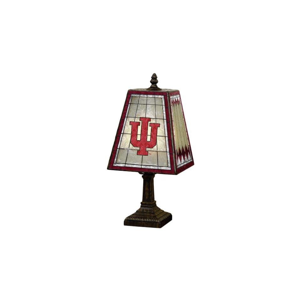 NCAA Indiana 14 Art Glass Table Lamp
