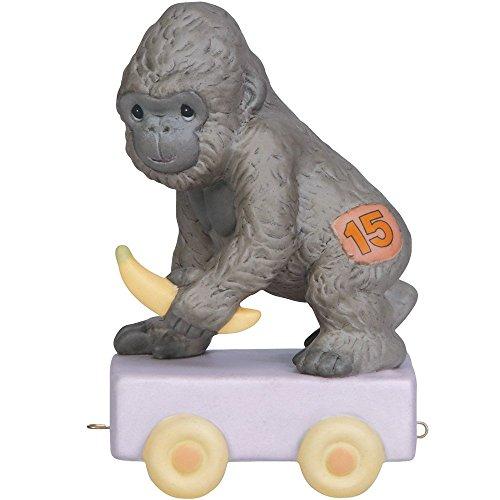 Precious Moments,  It's Your Birthday Go Bananas, Birthday Train Age 15, Bisque Porcelain Figurine, 142035 ()