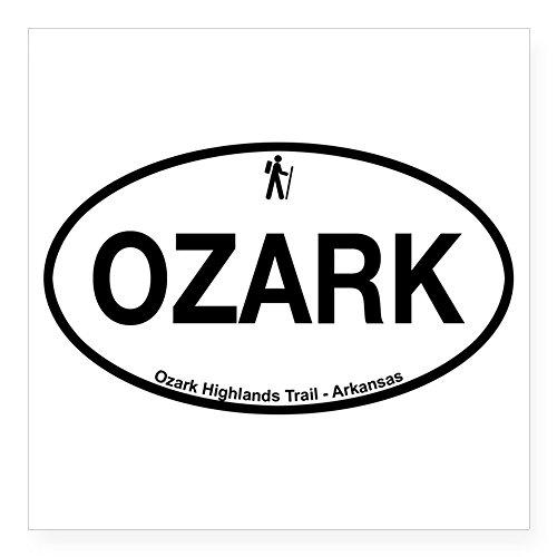 CafePress - H - Arkansas - OZARK - Ozark Highlands Trai Sticke - Square Bumper Sticker Car Decal, 3
