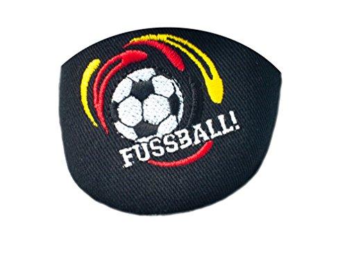 Yaro - Zapatillas de estar por casa de algodón para niño schwarz/Fussball