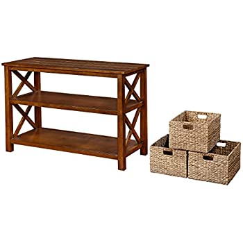 Amazon Com Ehemco X Side Console Sofa Table With 2