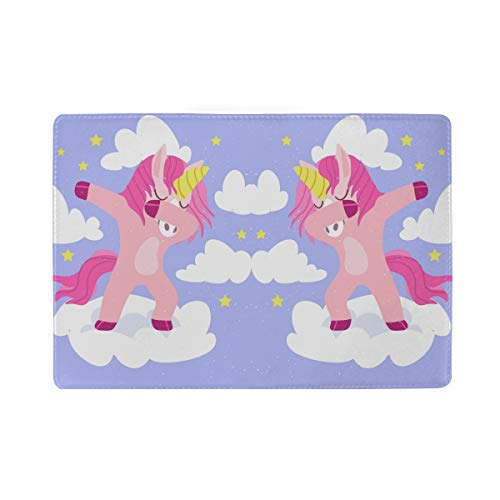Purple Unicorn Art Real Leather Passport Holder Wallet Case Cover for Men Women by Hulahula (Image #3)
