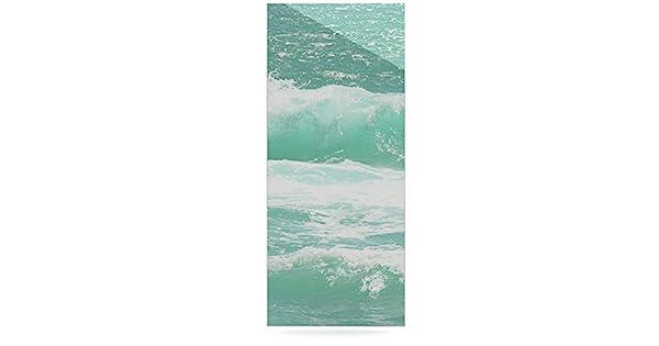Kess InHouse MS2068AWR03 Monika Strigel Maui Waves Teal Green Luxe Rectangle Panel 24 X 36