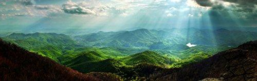 Glass Wall Art Startonight Acrylic Decor Carpathian Mountains, Nature Artwork 16 by 48 Inches ()