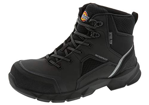 Dickies Men's Corvus Steel Toe EH Waterproof Construction Boot, Black, 9 Medium US