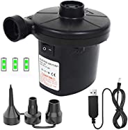 YOLOK Electric Air Pump for Inflatables Air Mattress Pump Air Bed Pool Toy Raft Boat Swimming Ring Cushions Po