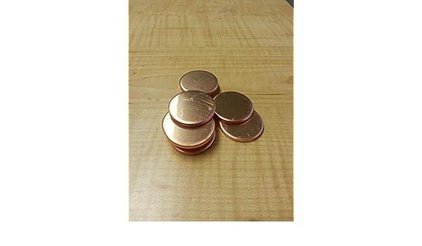"""20 Gauge 3//8/"""" Copper Discs Lot of 15"""