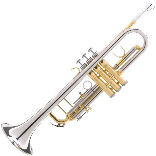 Large Product Image of Mendini MTT-30CN Nickel Plated Intermediate Double-Braced Bb Trumpet