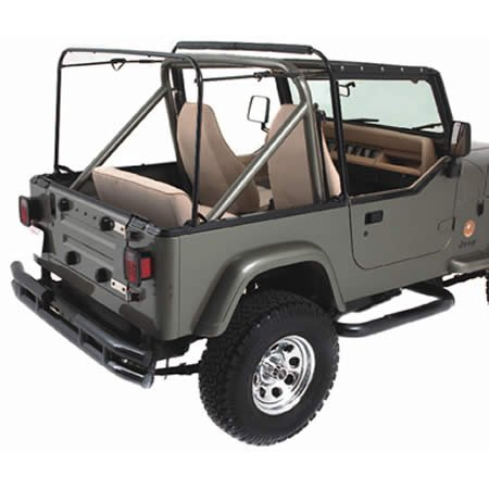 Soft Top Hardware (Rampage R69999 Replacement Soft Top Hardware Assembly For 1987-95 Jeep Wrangler YJ)