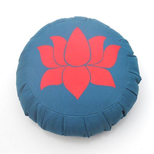 BAREFOOT YOGA CO. Barefoot Yoga Lotus Zafu (Slate Blue – Red)