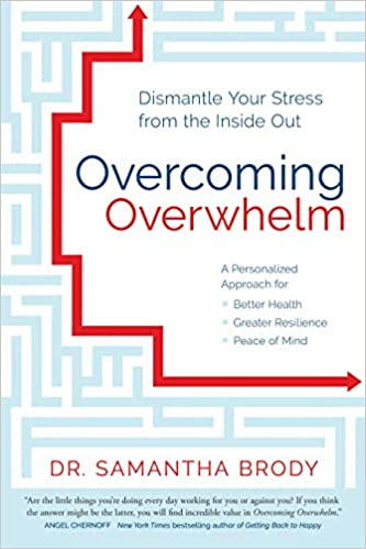Dr. Samantha Brody's book cover for DISMANTLE YOUR STRESS FROM THE INSIDE OUT OVERCOMING OVERWHELM. Come explore 25 Poignant Despair Quotes for Courage, Personal Growth & Emotional Wellness.