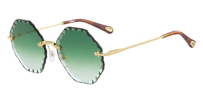Sunglasses CHLOE CE 143 S 836 GOLD/GRADIENT GREEN at Amazon ...