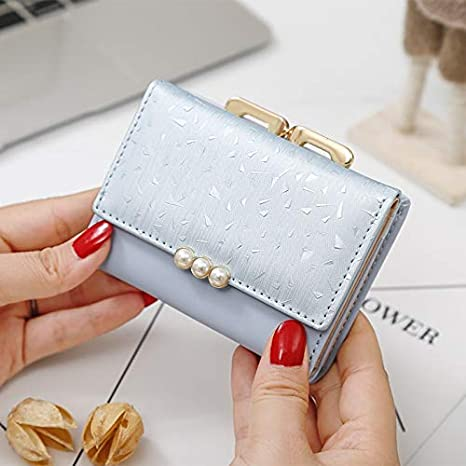 Color : Black, Size : Free MDYHJDHYQ Women Wallets Short Soft Leather Ladies Purse Clamp Designer Coin Pocket Card Holder Female Wallet