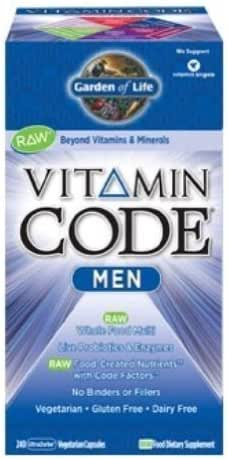 Garden of Life Vitamin Code Men's Multivitamin Supplement, 240 Count