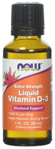 NOW Foods Liquid Vitamin D3 Extra Strength - 1000 IU - 1 fl oz