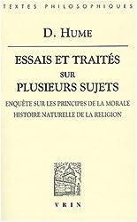 Essais et traités sur plusieurs sujets : Tome 4, Enquête sur les principes de la morale, l'histoire naturelle de la religion