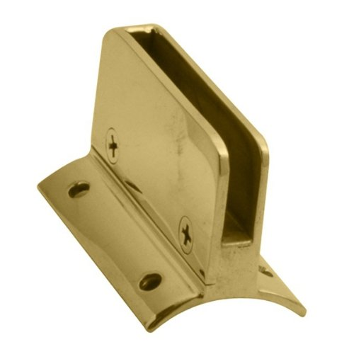 - Lavi Industries 00-812/1HSR Polished Brass Glass Clip 1/4