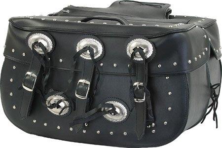 Detachable Motorcycle Saddlebag for Harley & Yamaha ()