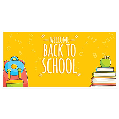 Yellow School Welcome Back to School Banner Classroom Decoration