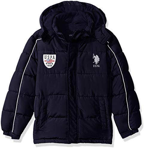 U.S. Polo Assn. Boys' Bubble Vestee Jacket with Fleece Hood – Sports Center Store