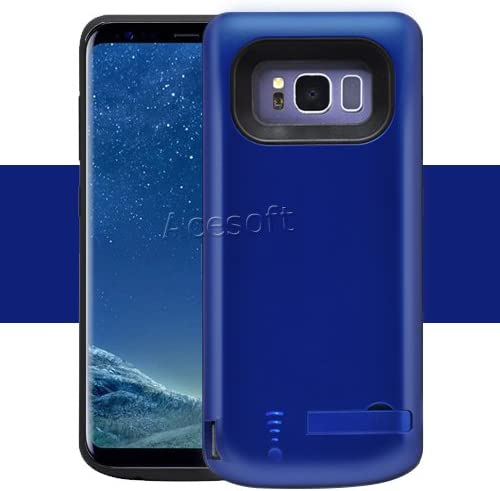 Galaxy S8 Battery Case High Capacity 5000mAh Extended Battery Rechargeable Charging Case with TPU Full Edge Protection Cover for Samsung Galaxy S8 SM-G950U Smartphone