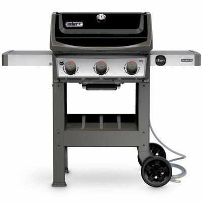 t II E-310 Gas Grill NG Outdoor, Black (2 Burner Natural Gas Grill)