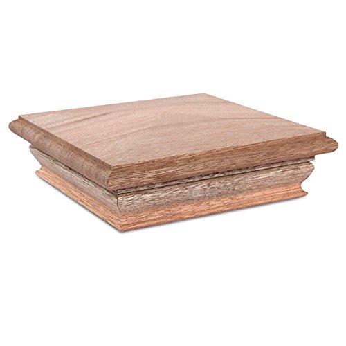- Woodway Pyramid 6x6 Post Cap - Premium Mahogany Wood Fence Post Cap, Newel Post Top 6 x 6, Fits Up to 5.5 x 5.5 Inch Post, 1PC