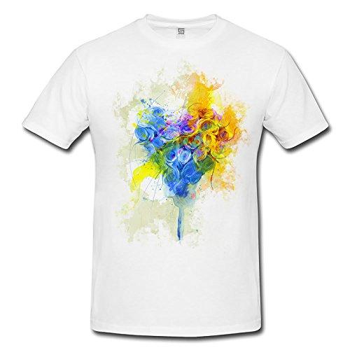 Herz Herren T- Shirt , Stylisch aus Paul Sinus Aquarell Color
