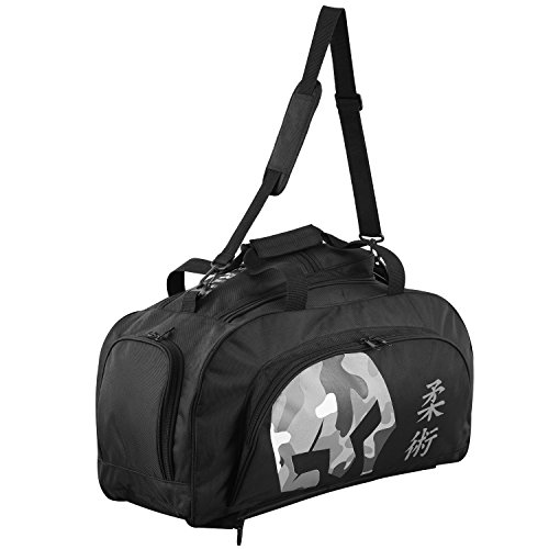 Verus Convertible Duffel Backpack Bag MMA Gym/Sports Gear Kit Athletic Muay Thai (Black/Camo)