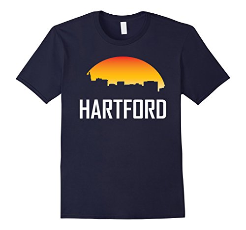 mens-hartford-connecticut-sunset-skyline-silhouette-t-shirt-xl-navy