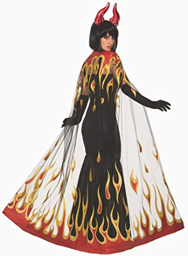 Forum Novelties Demons & Devils-Fire Cape, Multi-Color