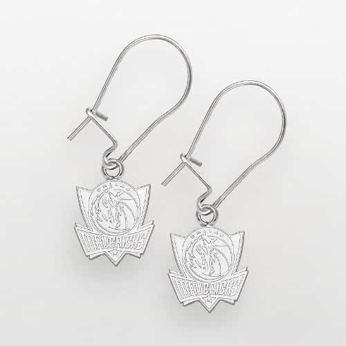 Dallas Mavericks Sterling Silver Logo Drop Earrings