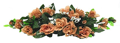 (Rose Swags MANY COLORS Silk Wedding Flowers Chuppah Arch Gazebo Centerpiece)