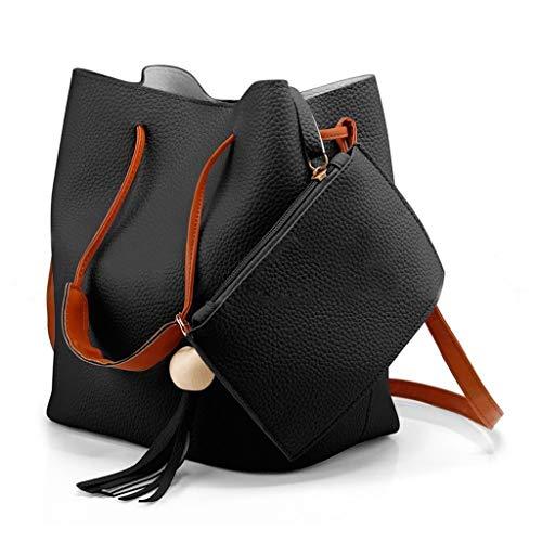 DORIC Women Ladies Fashion SolidCrossbody Messenger Handbag Purse TotesShoulderBags