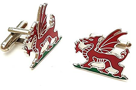 Ashton and Finch Welsh Dragon Cufflinks with Gift Box