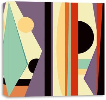 Quadro Canvas para Sala - Composição Abstrata 579