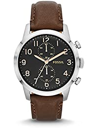Men's FS4873 Townsman Stainless Steel Watch with Brown Leather Band