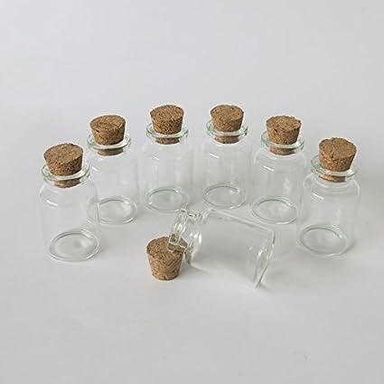 Viales de 10 ml Mini botellas de vidrio tarros con corcho tapón de corcho decorativo Tiny