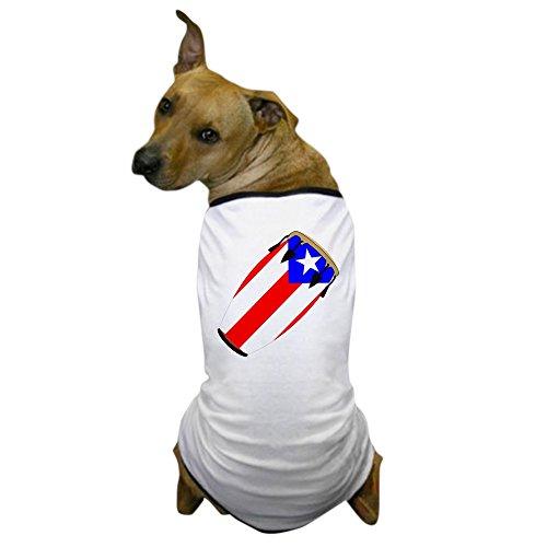 Congas Vintage Latin - CafePress - Conga Puerto Rico Flag Dog T-Shirt - Dog T-Shirt, Pet Clothing, Funny Dog Costume