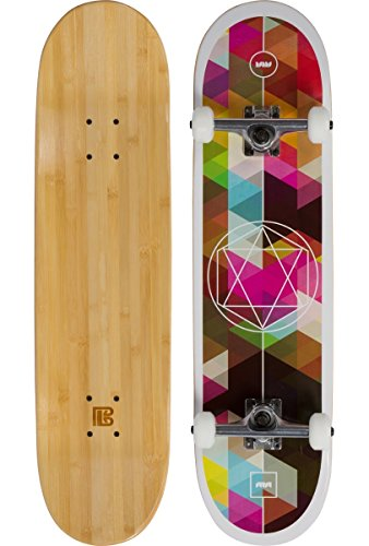 Bamboo Skateboards Sutsu Geometricity Graphic Complete Skateboard, 7.75