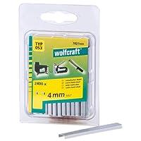 Wolfcraft 7021000 2400 Klammern breit, X-harter Stahl Typ 53 4 mm