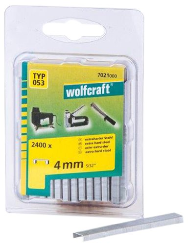 Wolfcraft 7021000 2400 Staples Wide Type 53 Hard Steel 4 mm by Wolfcraft by Wolfcraft (Image #1)
