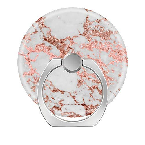 Universal Phone Grip Holder, Expanding Grip Socket for Cellphones,Rotation Pop Grip Holder for Phones, iPad and Tablet-Modern Faux Rose Gold Glitter Marble