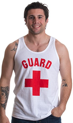 GUARD | White Professional Lifesaving Swim Rescue Unisex Tank Top