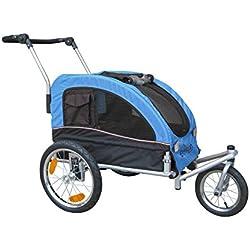Booyah Medium Dog Stroller & Pet Bike Trailer with Suspension - Blue