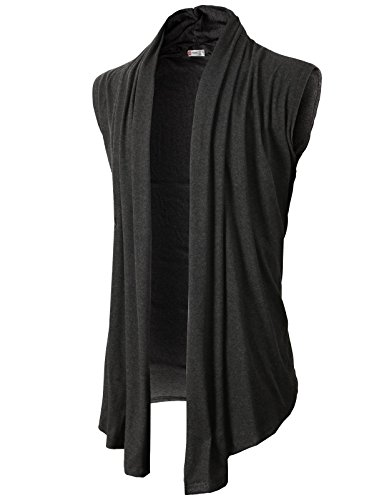 h2h-mens-shawl-collar-sleeveless-cardigan-with-no-button-charcoal-us-s-asia-m-kmocasl01