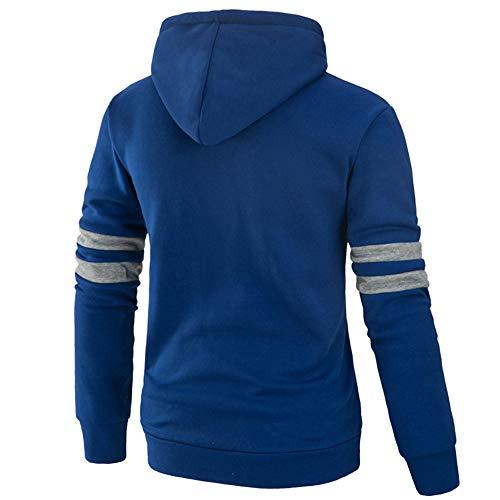 Hiver Bleu Sweatshirt Capuche Hommes À Automne Solide Kobay WxCnz