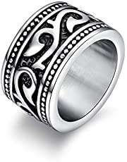 Gothic Stainless Steel Ring for Men