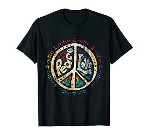 - Retro Psychedelic Peace Sign Hip Funky Radical Tees
