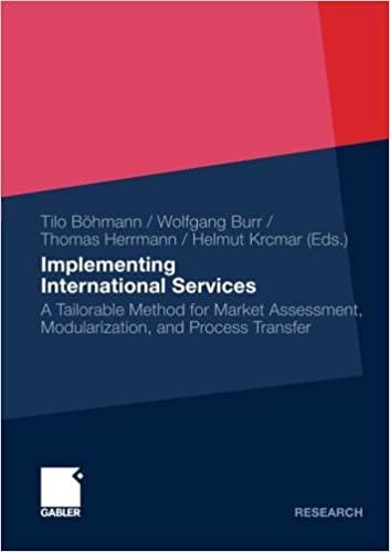 Book Implementing International Services: A Tailorable Method for Market Assessment, Modularization, and Process Transfer